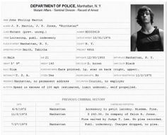 arrest record template Layout Record of Arrest police file
