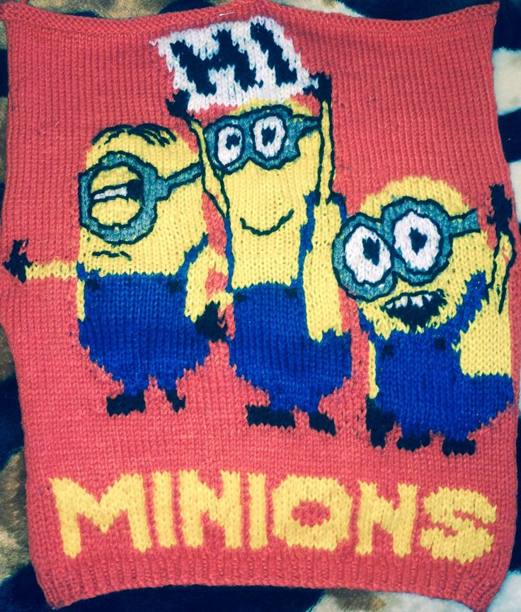MINIONS knitted JUMPER PATTERN by KraftyKiwis on Etsy