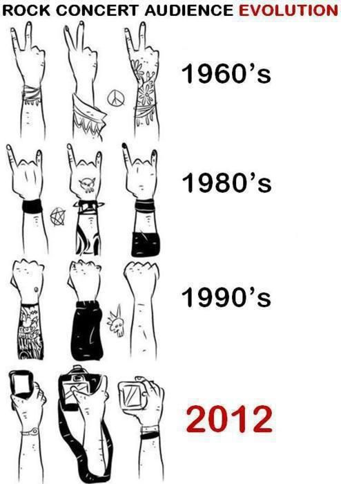 People nowadays...: Laughing, Concerts Audienc, Audienc Evolution, Rocks Concerts, Random, So True, Funny Stuff, Humor, Things