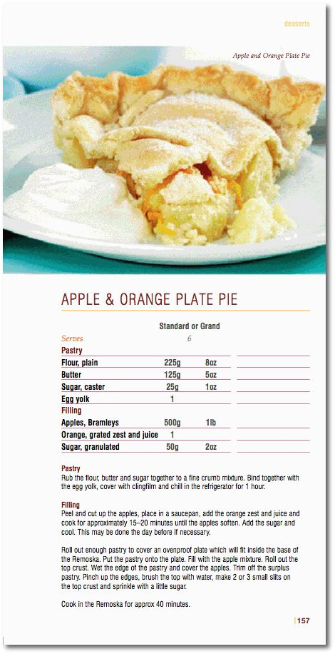Apple & Orange Plate Pie in Remoska