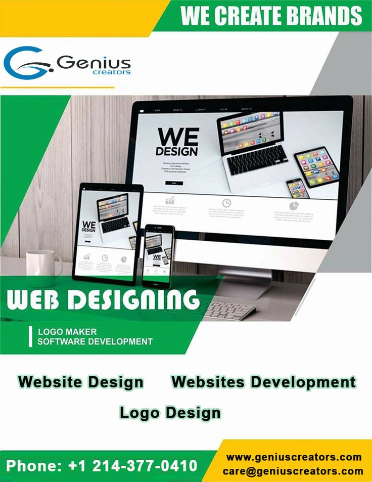 Genius Creators is a professional company that provide a wide range of #webdesign and #webdevelopment services. Find out how we help to grow your business! #websitedesign #logodesign #webdevelopmentservice #webdeveloper #websitedesign