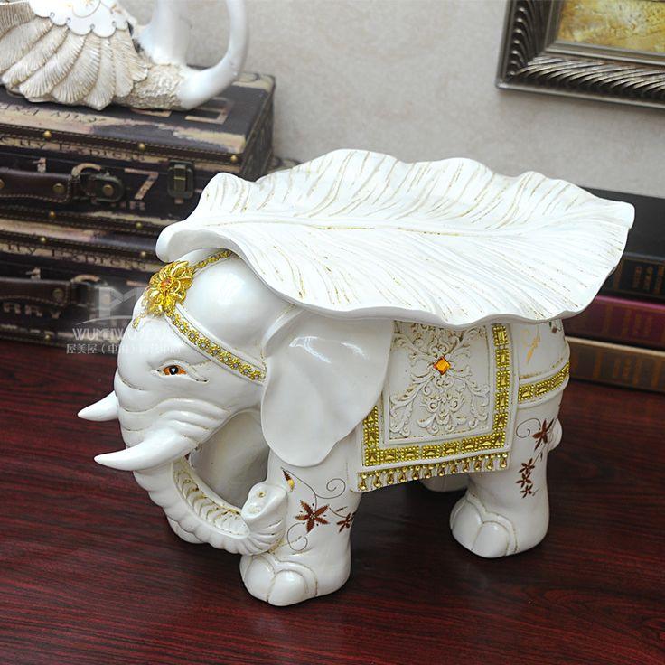 EUA casa casa de moda criativa resina elefante fezes mudando seus sapatos da flor do ouro upscale landing artesanato enfeites de resina(China (Mainland))