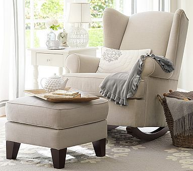 Wingback Convertible Rocker #pbkids Want this for our sitting area in the new house. Looks so peaceful. =)