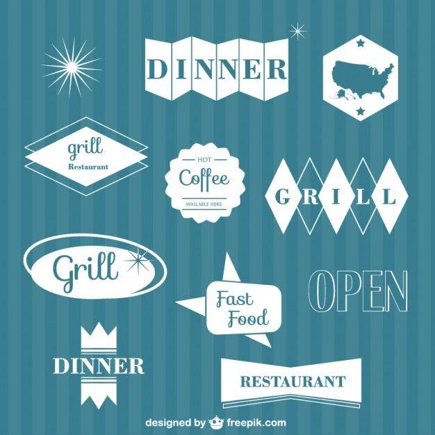 éléments graphiques vectoriels Restaurant Vecteur gratuit