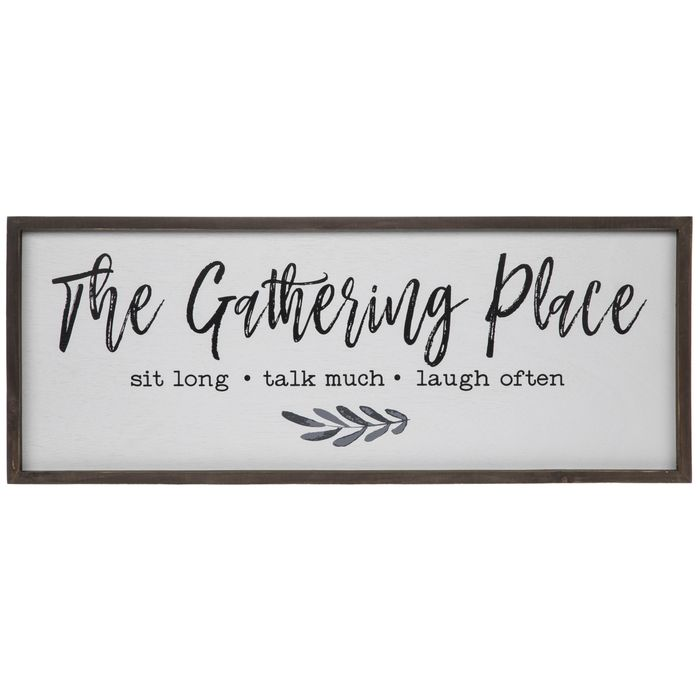 Get The Gathering Place Wood Wall Decor Online Or Find Other Quote Wall Decor Products From Hobbylobby In 2020 Wood Wall Decor Family Room Wall Decor Wall Decor Quotes