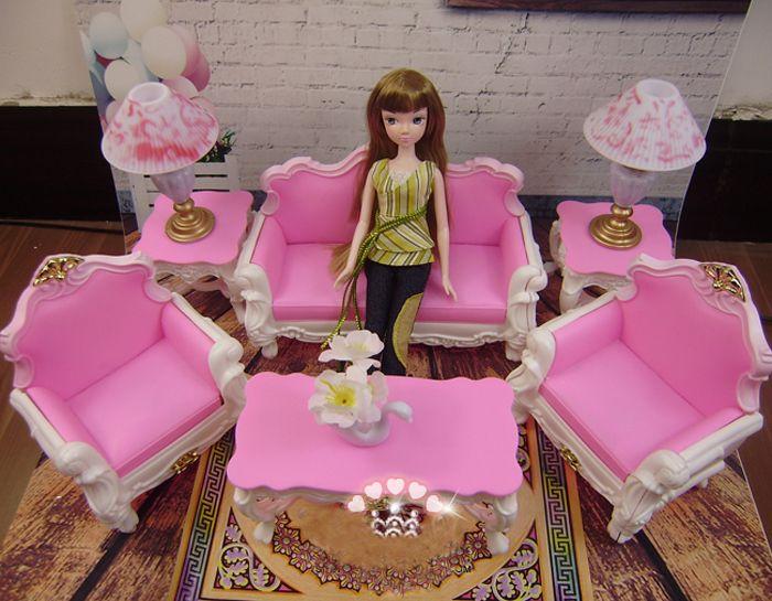 Кукла мебель комплект для гостиной аксессуары для barbie кукла