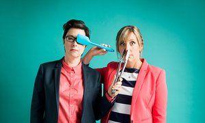 Sue Perkins and Mel Giedroyc.
