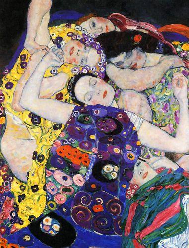 Gustav Klimt  The Maiden (Detail)