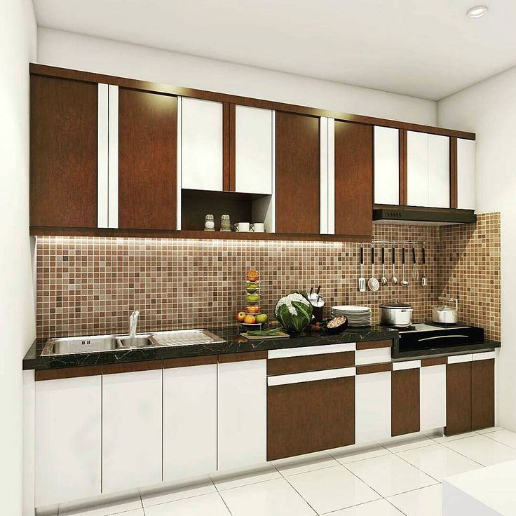 13 best desain dapur images on pinterest kitchens for Harga kitchen set sederhana