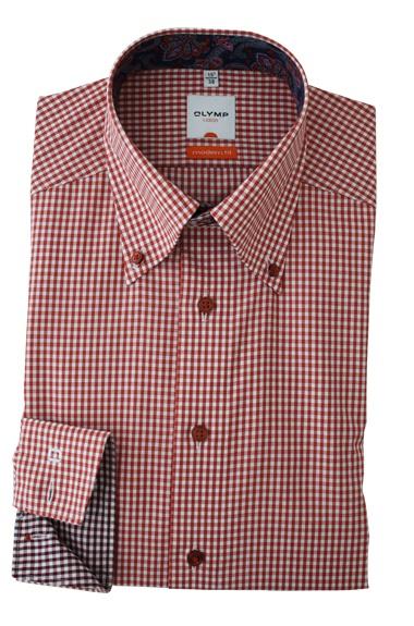 Een prachtig rood geruit overhemd. Met een leuk afgewerkte kraag. http://www.hemdenonline.nl/item-overhemden-olymp-olymp-6338-64-91-3037p39_53.html Olymp 6338-64-91