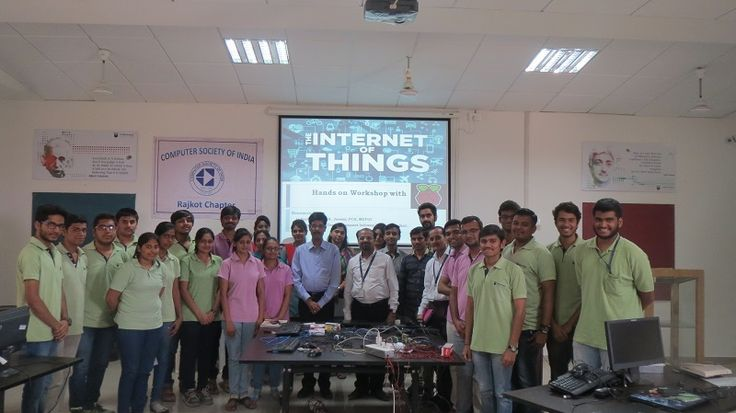 """Workshop on """"Internet of Things""""!! CSI, N Connect & FCA (Future chartered accountants) jointly had organized a 3-Days hands-on workshop on Internet of Things which was attended by approximately 25 students.  Students learnt the concept of Raspberry Pi, its architecture, installing OS, connecting different hardware, using network, GPIO structure and its usage like Home Automation for remote management using website, and Android Applications. It was a great experience for the #MEFGI…"""
