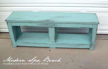 Bench/Sofa Table: Entry Benches, Projects, Decor Ideas, Entryway Benches, Color, Outdoor Cushions, Baskets, Diy, Front Porches