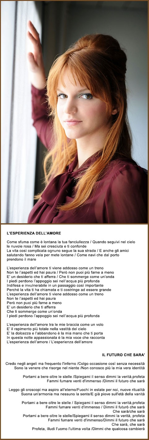 Chiara - (L'esperienza dell'amore / Il futuro che sarà) - Ha vinto l'ultima edizione di XFactor con Due Respiri, canzone scritta appositamente per lei da Eros Ramazzotti. Nuova di zecca.