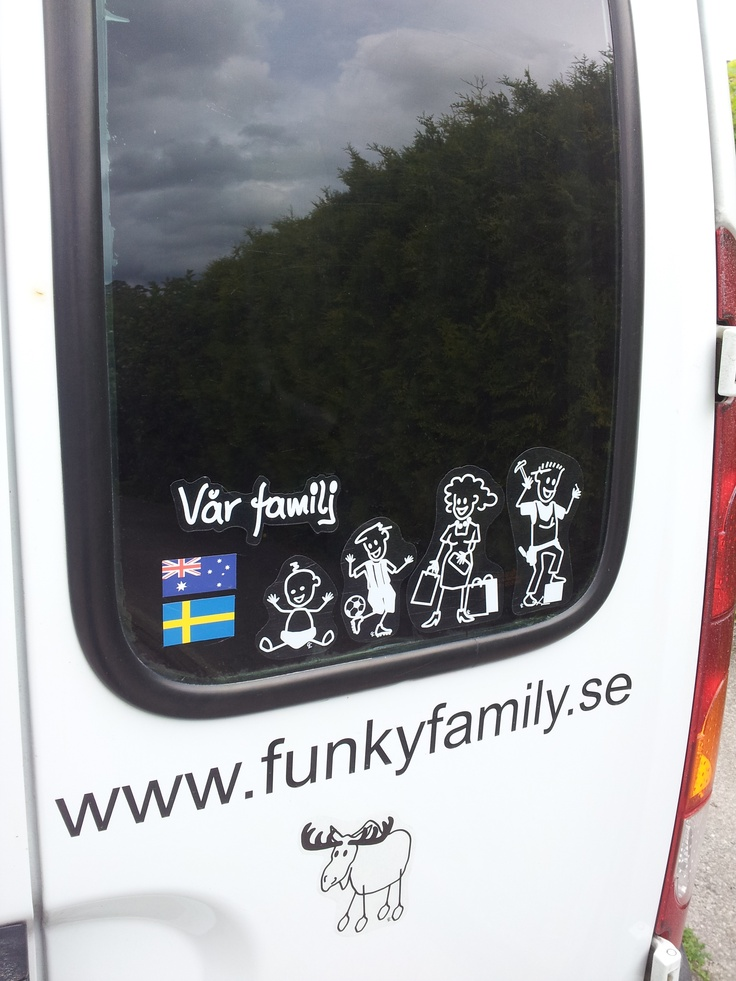 Funky Family Car stickers.