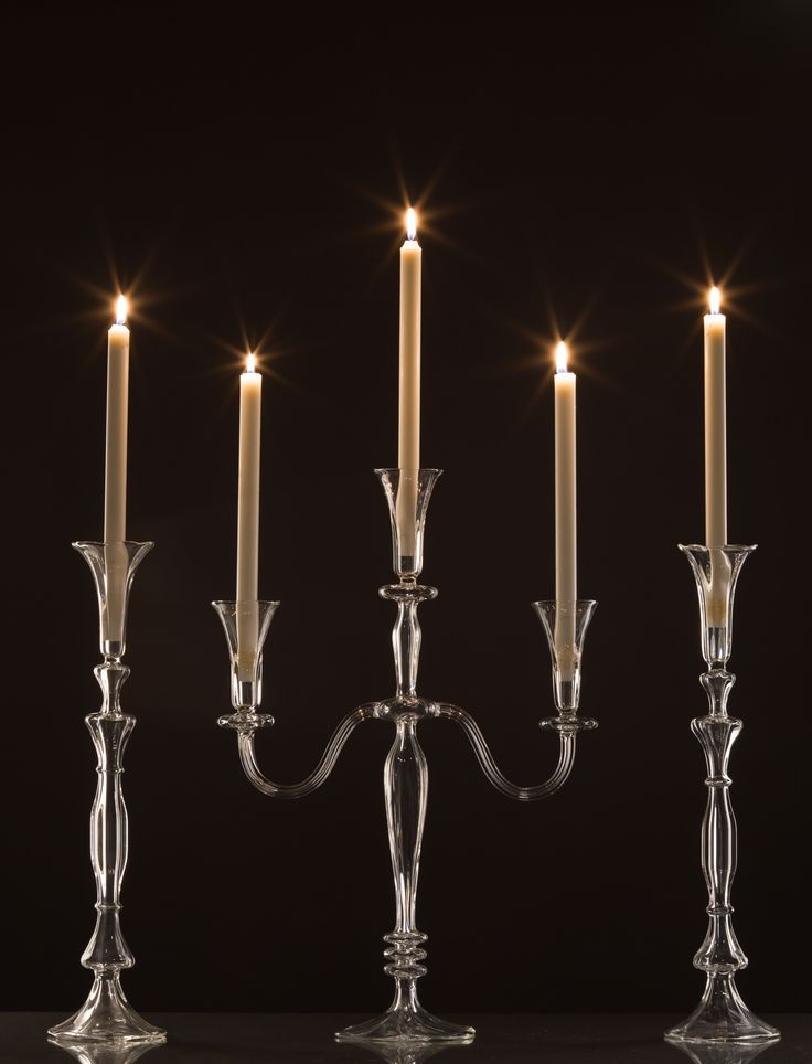 Candle Holders and Candelabra for wedding decoration - special occasions, handmade glassware. Shop on https://gabrielaseres.com/