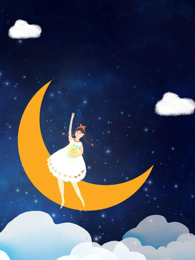 Noche Dibujos Animados Luna Oso Fondos Bonitos Dibujos Animados Dibujos