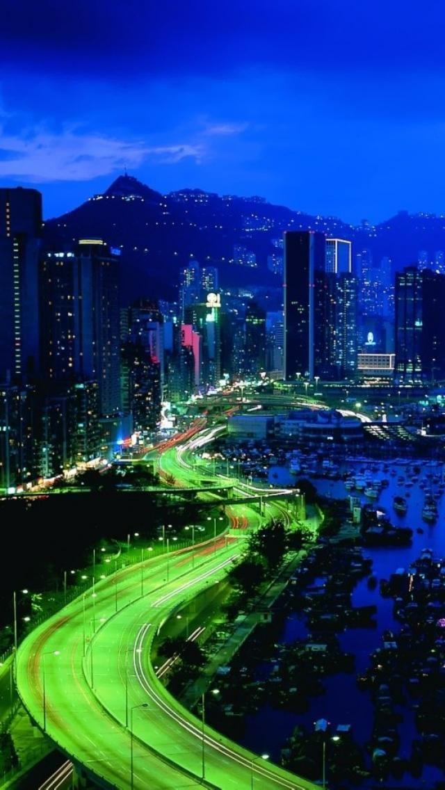 makati, city, night, Landscapes, Manila