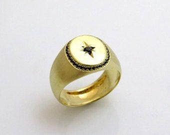 Hombres único anillo anillo grande para hombres por JewelryAsteria