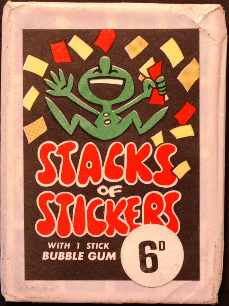 70' Stacks of Stickers Wrapper Unlisted
