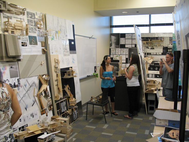 Architecture Students working on Pin UP Review