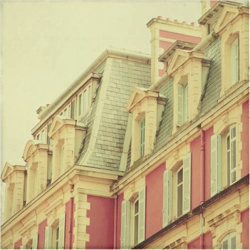 pink!: Pastel, Dolls Houses, Building, Candy Colors, Dreams Houses, Mansard Roof, Pretty Pink, Pink Houses, Paris Architecture