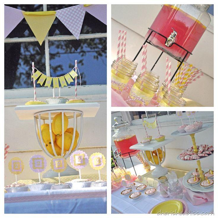 Cherished Bliss Pink Lemonade Party #birthdayparty