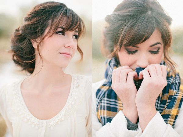 Wedding Hairstyles With Braids And Bangs : The 25 best wedding hair bangs ideas on pinterest