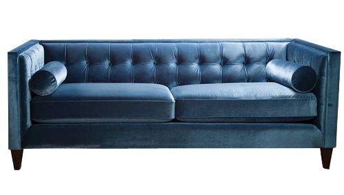 Best Sandy Wilson Periwinkle Velvet Sofa Sofas Pinterest 400 x 300