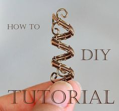 Tutorial Wire weaving Dread bead Wire wrapping Wrapped How to