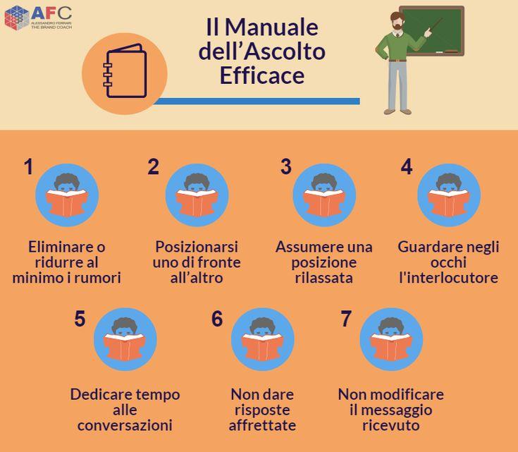 Il manuale dell'ascolto efficace. #comunicazione http://www.afcformazione.it/blog/ascolto-attivo-e-comunicazione-efficace-un-mix-vincente