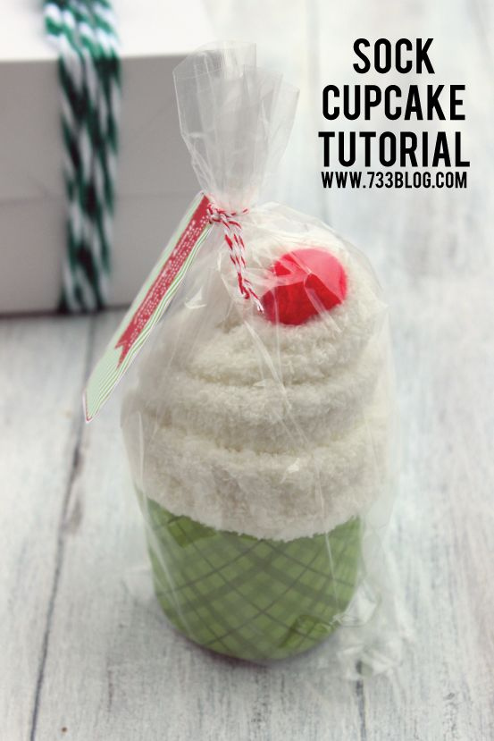 Sock Cupcake Tutorial - seven thirty three