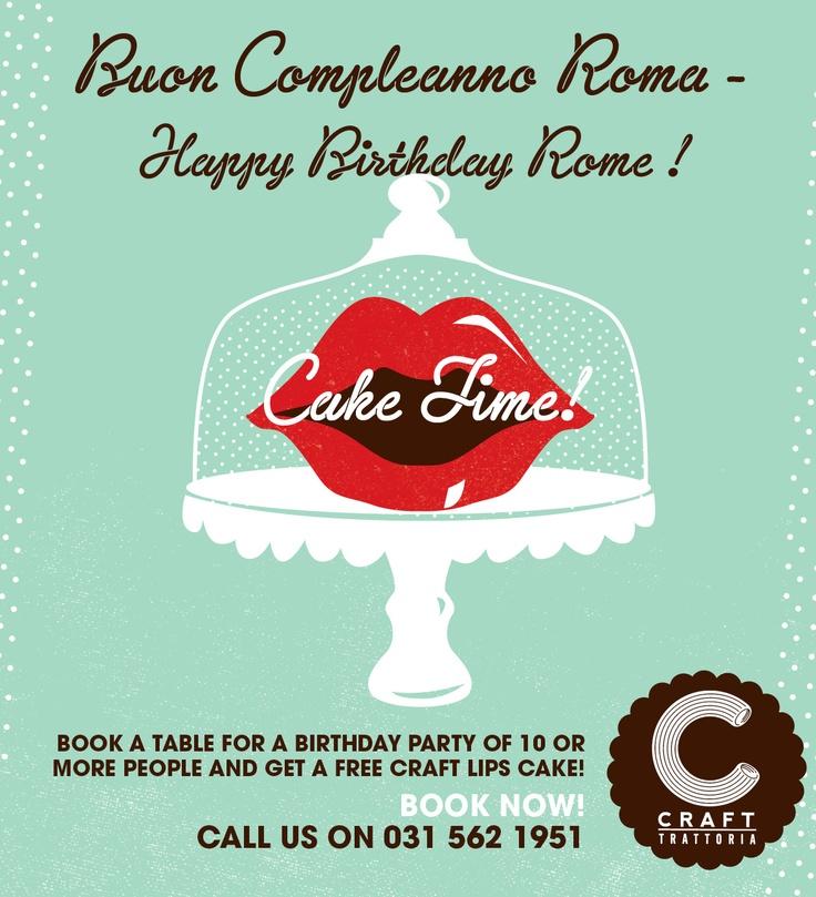 Birthday Special #Crafttrattoria