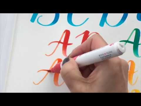 Excellent video tutorial about blending with watercolor brush pens using Ecoline brush pens and liquid watercolors