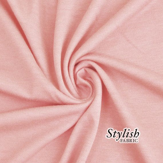 Dusty Pink French Terry Fabric by the yard French by StylishFabric