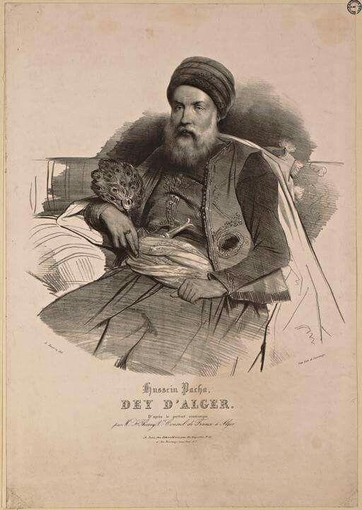 Hussein-Pacha, dey d'Alger, d'après le portrait communiqué par M. Florent Thierry, vice-consul de France à Alger. (1830-1831)