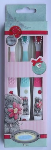 3 CHILD TOOTHBRUSHES - SOFT BRISTLE - ME TO YOU - TATTY TEDDY - 99 PENCE ONLY!!!