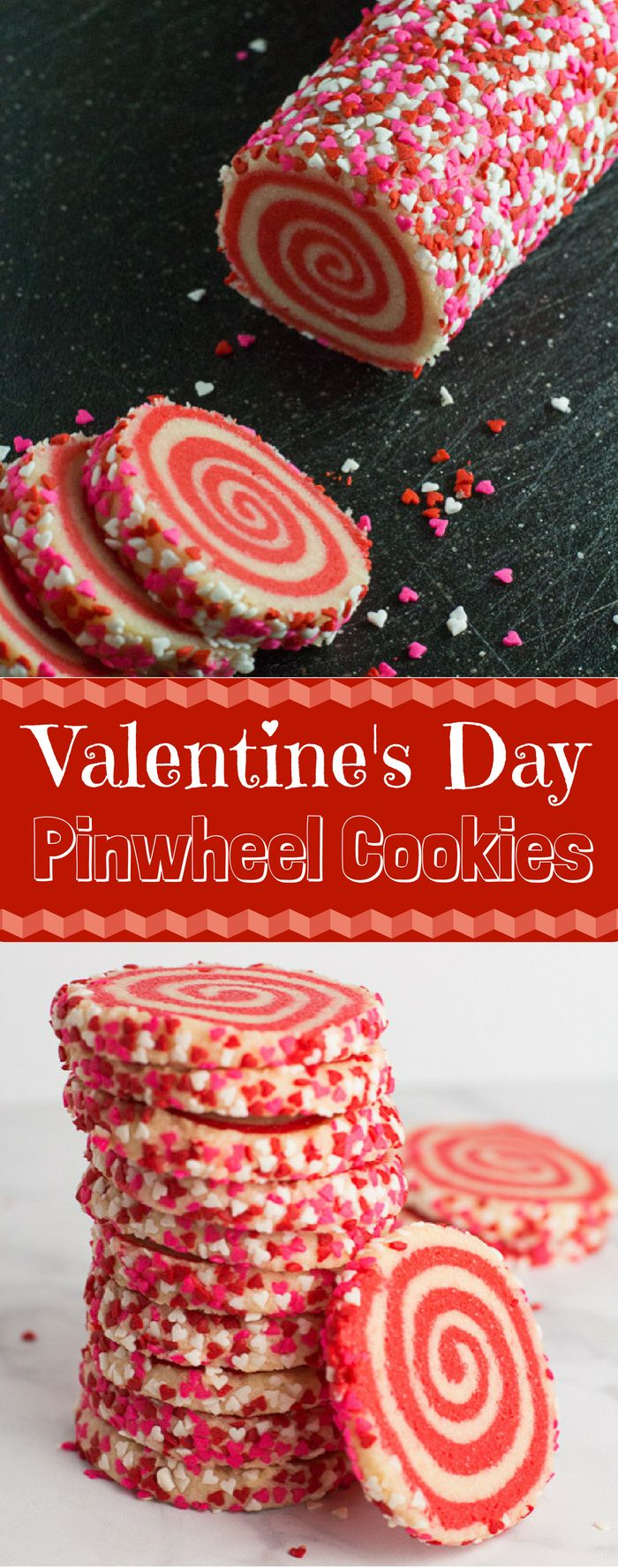 These whimsical pinwheel cookies are perfect for Valentine's Day! The best part? You can adapt this to any occasion and holiday!