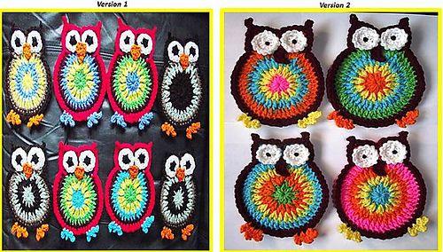 Free Download. Ravelry: Hooty Owl Coasters pattern by crochetgirl2