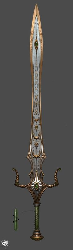 Araina's father always has his sword upon his person. Being the Lord of Listhiathine, the sword's golden swirls and edges represent his City's trademark; the sunlight.