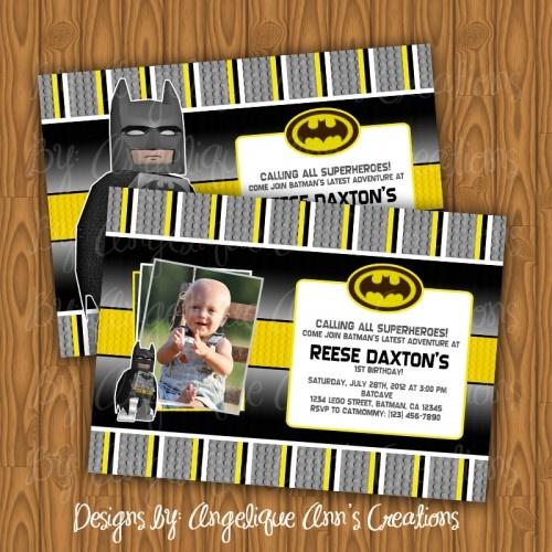 $13.99 Batman Lego Invitations  Cute Lego Batman Invitations with Lego Details!!! =D Adorable!