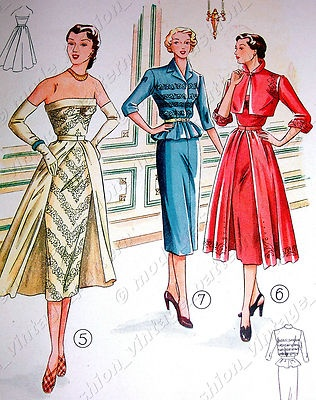 1952 Lutterloh The Golden Rule N 46 Sewing Patterns Supplement