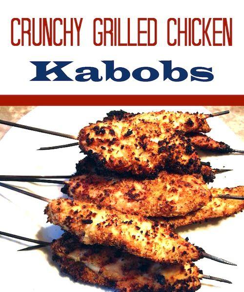 Crunchy Grilled Chicken Kabobs recipe - From Val's Kitchen