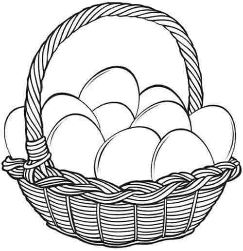 kids easter baskets coloring pages - photo#36