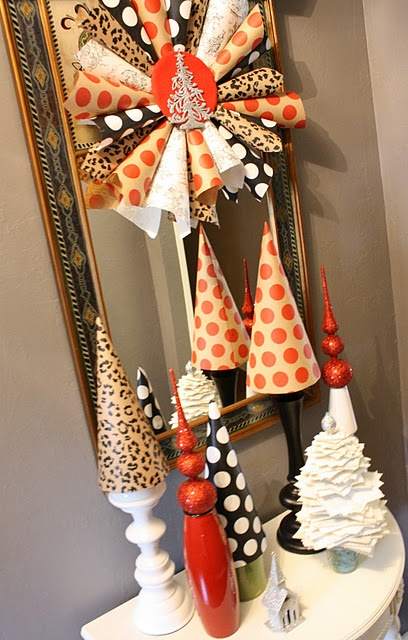 love: Holiday, Christmas Time, 52 Mantels, Tree Inspired, Christmas Decor, Christmas Ideas, Christmas Trees, Paper Trees
