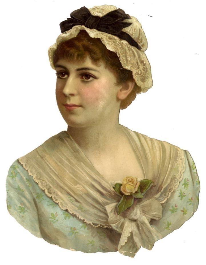Oblate Glanzbild Mädchen mit Spitzenhaube sehr reizend um 1900 obl7: