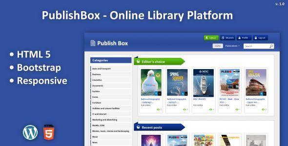 PublishBox - Online Library Platform (Miscellaneous) - PROFIREFOX
