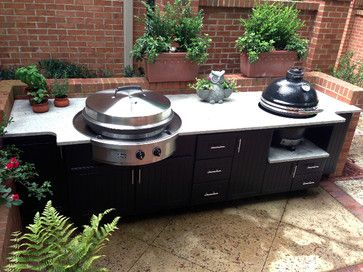 Custom Outdoor Kitchen From Select Outdoor Kitchens. Includes The EVO And  Classic Kamado Joe Grill