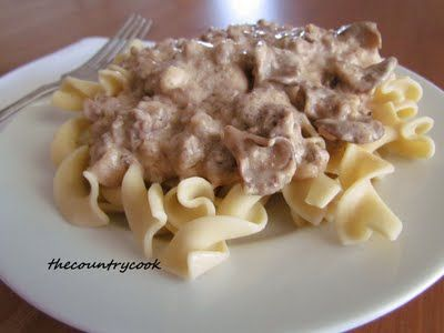 Ground Beef Stroganoff | Where does your food come from?: Dinner, Ground Beef Recipes, Food, Beef Stroganoff, Groundbeef, Favorite Recipes, Country Cook