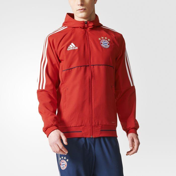 adidas FC Bayern Munich Presentation Jacket - Mens Soccer Jackets