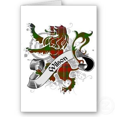Wilson Tartan Lion Greeting Card by Scottish_Tartans